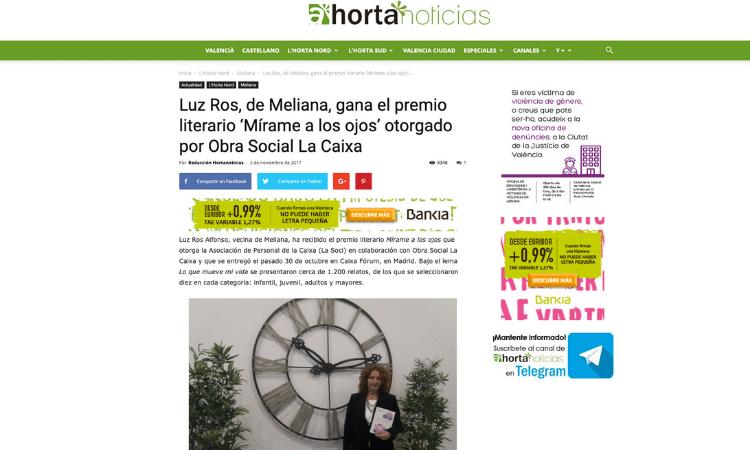 Entrevista periódico Nou Horta a Luz Ros